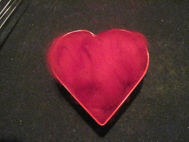how to make felted wool hearts