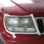 Headlights taped