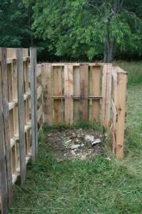 Compost bin open