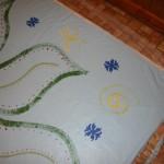 Floorcloth a little more color