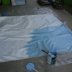 Floorcloth first coat