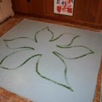 Floorcloth flower