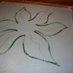 Floorcloth inside leaf