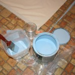 Floorcloth paint with watre