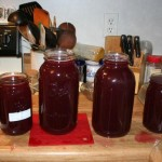 Grape juice in jars