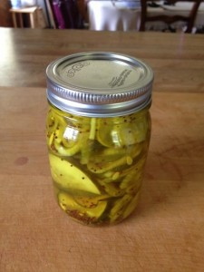 Pickled in jar