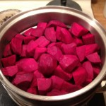 F Beets ready to steam