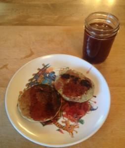 Pancakes served