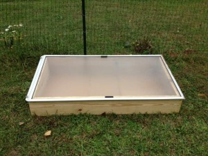 Cold frame closed