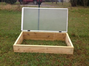 Cold frame in the garden