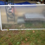 Cold frame shower door