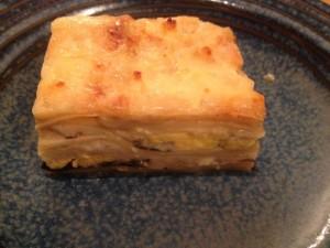 Egg lasagna served