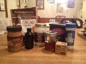 Fudge ingredients
