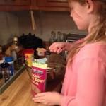 Choc chip bars adding the brown sugar