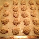 Choc macaroon baked