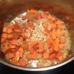 Kale soup garlic added