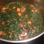 Kale soup kale added