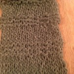 K infinity scarf pattern