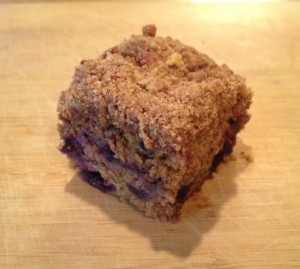 P & B coffee cake served