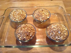 Challenge apple crisp ready for oven