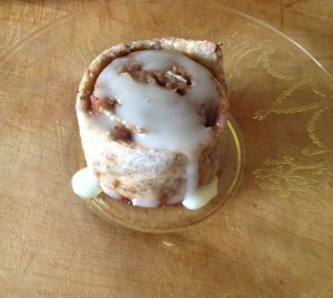 Cinnamon bun done