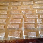 Crackers ready for the oven