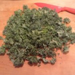 Kale chick kale cut