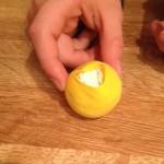 Minion flour in balloon