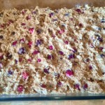 Cranberry cake ready for oven