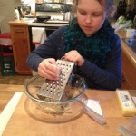 Cheese crackers grating