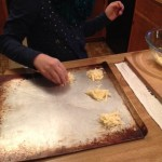 Cheese crackers on tray
