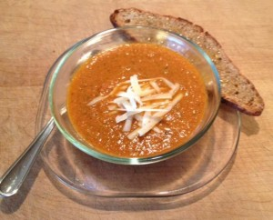 Tomato soup done