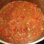 Tomato soup simmering